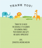 Jungle Animals Thank You