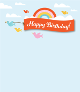 Birthday Bird Banner