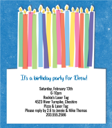 Cake & Candles Invitation