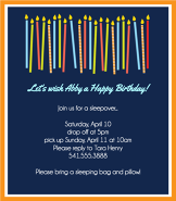 Dancing Candles Invitation