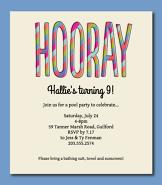 Hooray Invitation